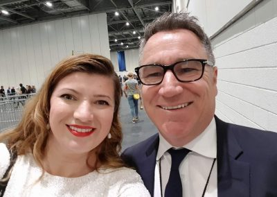 Lily With Michael Burnett - co - founder of Success Resources