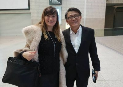 Lily with Richard Tan - Founder of Success Resources - event company with over 10 million attendees
