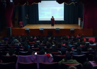 Lily Patrascu At Lider Orador Sales and Branding Conference for Low Income Women Centro Cultural de Ate Lima Peru