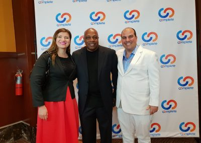 Lily Patrascu and Harry Sardinas with Coach Carter – Who Was Played By Samuel L Jackson In the Movie – Coach Carter, an American business owner, education activist and former high school basketball coach.