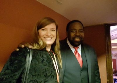 Lily Patrascu with Les Brown, The World's Leading Motivational Speaker. Radio DJ & Former TV host, author of the best-selling book 'Live Your Dreams'.