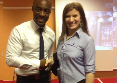 "Lily Patrascu With TV Series ""The Apprentice"" Winner Tim Campbel"