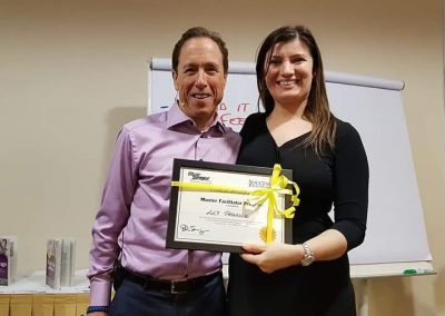 Lily Patrascu with Blair Singer – One of World's Best Sales Trainers