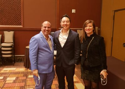 Lily Patrascu and Harry Sardinas with John Lee – Property Investor, Speaker, CEO and co-founder of Wealth Dragons
