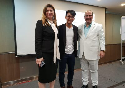 Lily Patrascu with Sean Seah Founder Chief Executive Officer and Master Trainer of Value Investing College