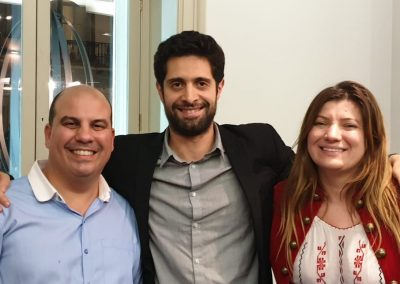 Harry Sardinas and Lily Patrascu with Daniel Apprea Founder of Next Level Business Bootcamp
