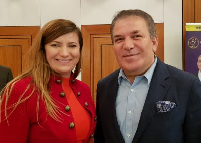 Lily Patrascu with the Billionaire founder of Simit Sarayi more than 430 stores around the world & over 360 million clients per year